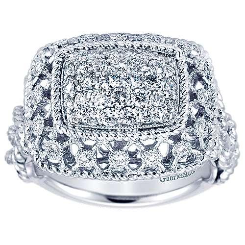 18k White Gold Mediterranean Fashion Ladies' Ring angle 5