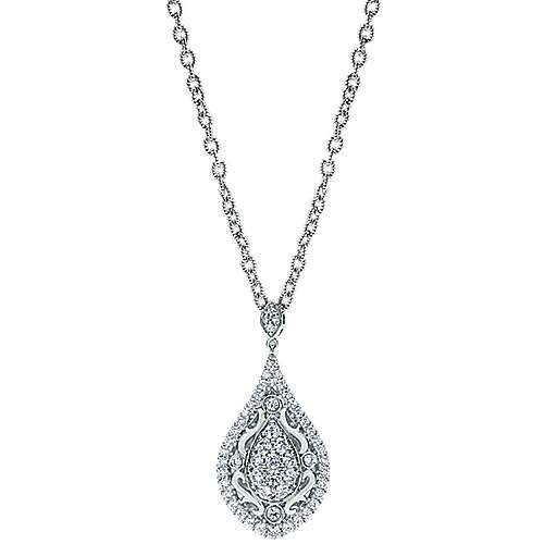 Gabriel - 18k White Gold Mediterranean Fashion Necklace