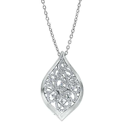 18k White Gold Mediterranean Fashion Necklace angle 1