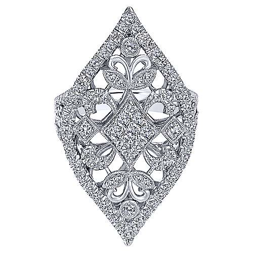 18k White Gold Mediterranean Statement Ladies' Ring angle 1