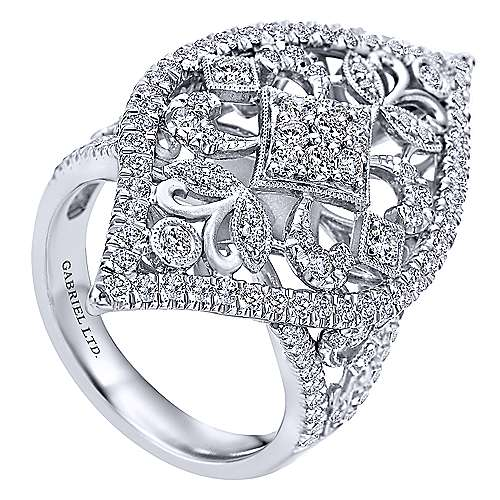 18k White Gold Mediterranean Statement Ladies' Ring angle 3