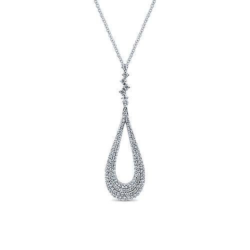 Gabriel - 18k White Gold Silk Fashion Necklace