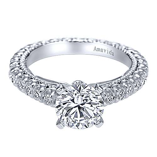 Gabriel - 18k White Gold Round Eternity Engagement Ring