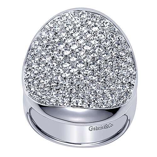 18k White Gold Silk Fashion Ladies' Ring angle 5