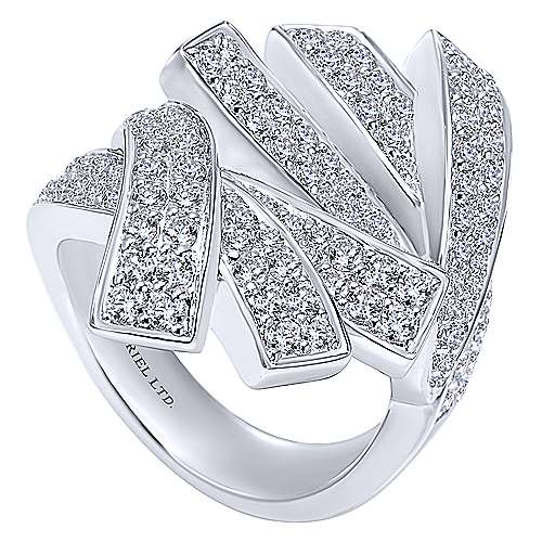 18k White Gold Silk Fashion Ladies