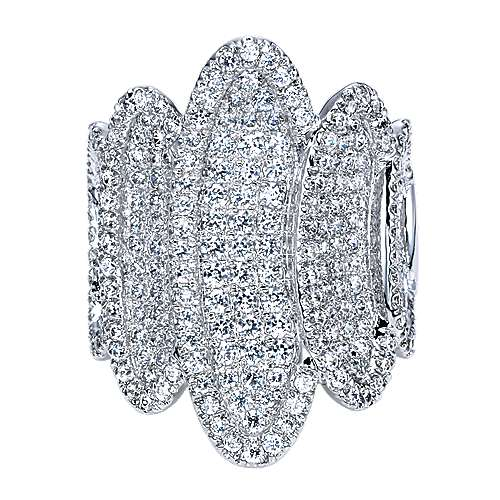 Gabriel - 18k White Gold Silk Fashion Ladies' Ring
