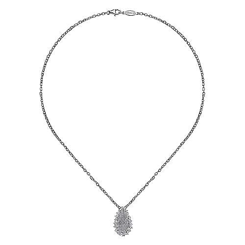18k White Gold Silk Fashion Necklace angle 2