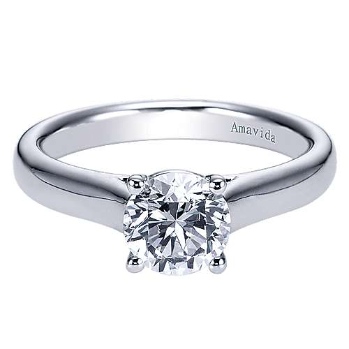 18k White Gold Solitaire