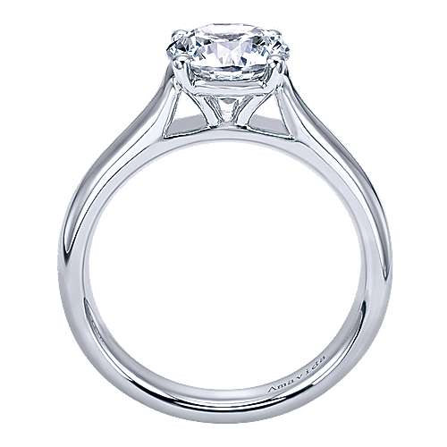 18k White Gold Solitaire Engagement Ring angle 2