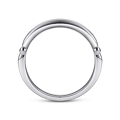 18k White Gold Straight Wedding Band angle 2