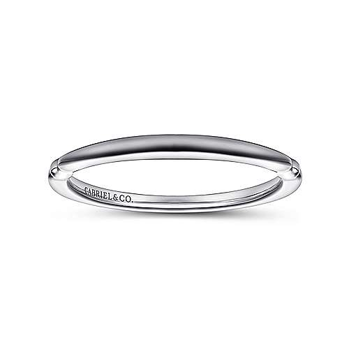 18k White Gold Straight Wedding Band angle 5