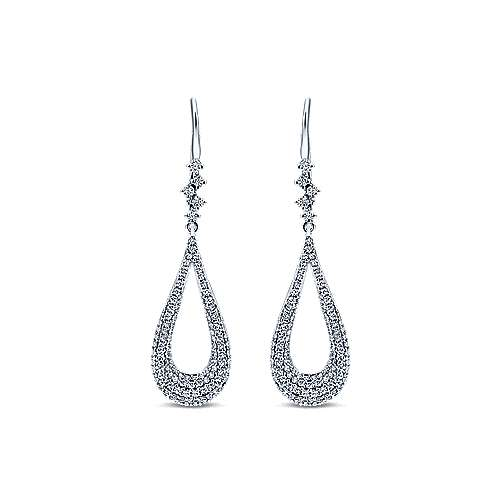 Gabriel - 18k White Gold Silk Drop Earrings