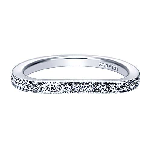 Vintage 18k White Gold  Curved