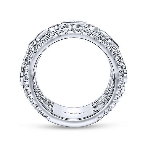 18k White Gold Victorian Fancy Anniversary Band angle 2