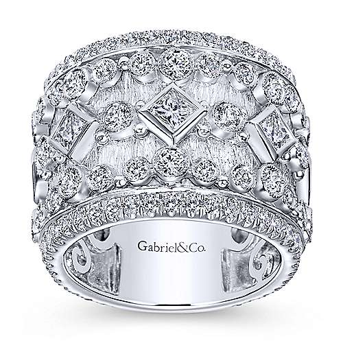 18k White Gold Victorian Fancy Anniversary Band angle 5