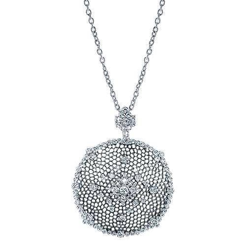 18k White Gold Victorian Fashion Necklace