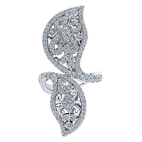 18k White Gold Victorian Statement Ladies' Ring angle 1