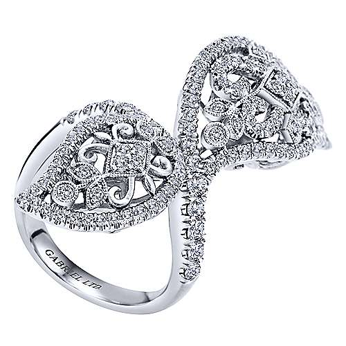 18k White Gold Victorian Statement Ladies' Ring angle 3