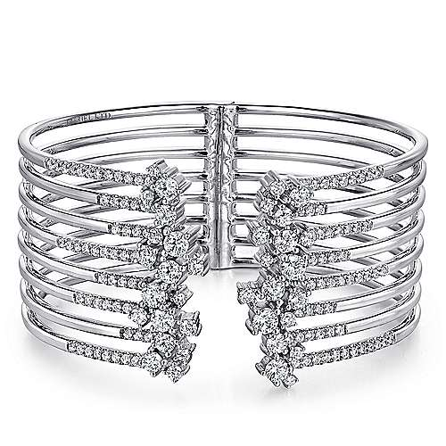 Gabriel - 18k White Gold Waterfall Bangle
