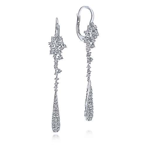 Gabriel - 18k White Gold Waterfall Drop Earrings