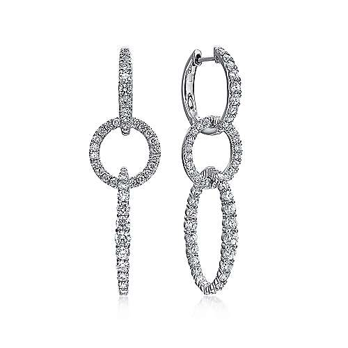 18k White Gold Waterfall Drop Earrings