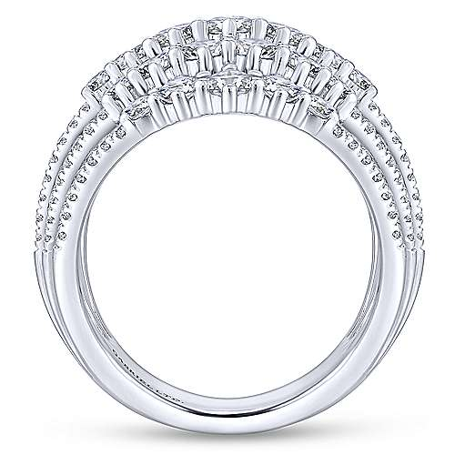 18k White Gold Waterfall Fashion Ladies