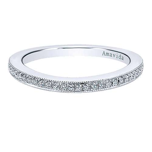 Gabriel - 18k White Gold Wedding Band