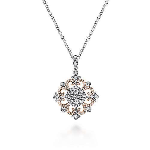 Gabriel - 18k White/pink Gold Allure Fashion Necklace