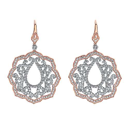 Gabriel - 18k White/pink Gold Mediterranean Drop Earrings