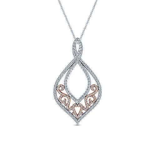 18k White/pink Gold Diamond Fashion