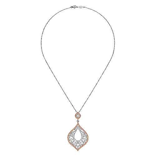 18k White/pink Gold Diamond Fashion Necklace angle 2