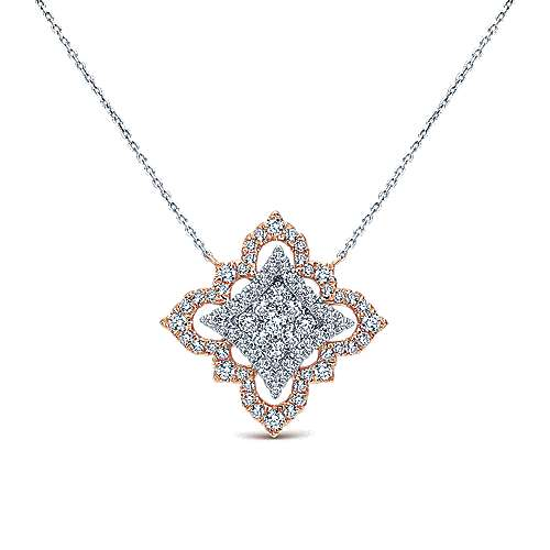 Gabriel - 18k White/pink Gold Mediterranean Fashion Necklace