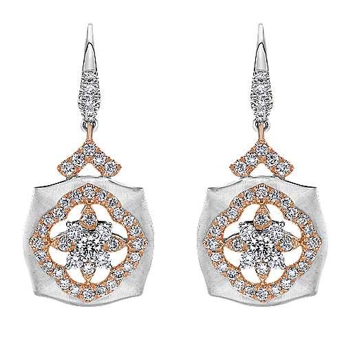 Gabriel - 18k White/pink Gold Mediterranean Drop Earrings