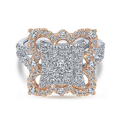 Gabriel - 18k White/pink Gold Mediterranean Fashion Ladies' Ring