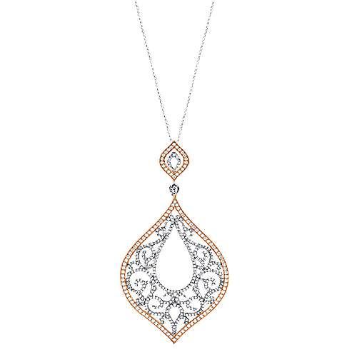 Gabriel - 18k White/pink Gold Mediterranean Fashion Necklace