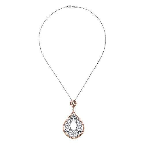 18k White/pink Gold Mediterranean Fashion Necklace angle 2