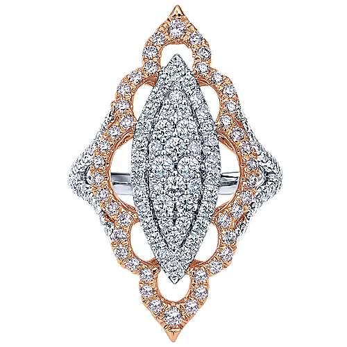 Gabriel - 18k White/pink Gold Mediterranean Statement Ladies' Ring