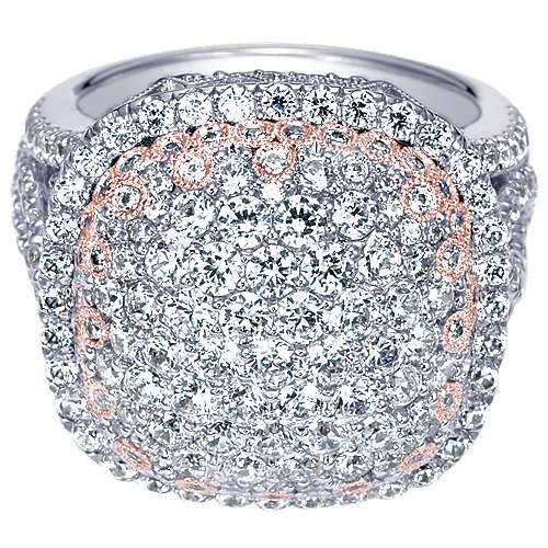 Gabriel - 18k White/pink Gold Silk Fashion Ladies' Ring