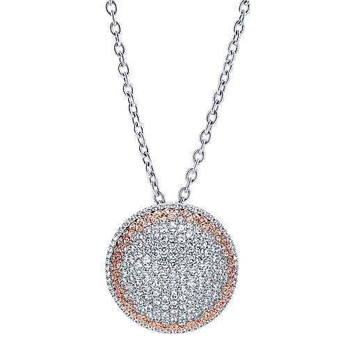 Gabriel - 18k White/pink Gold Silk Fashion Necklace