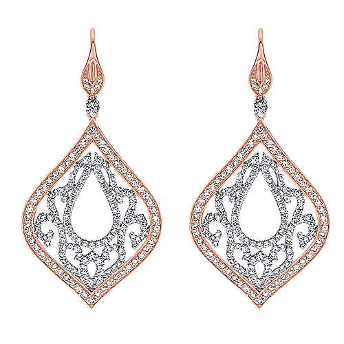Gabriel - 18k White/rose Gold Mediterranean Drop Earrings