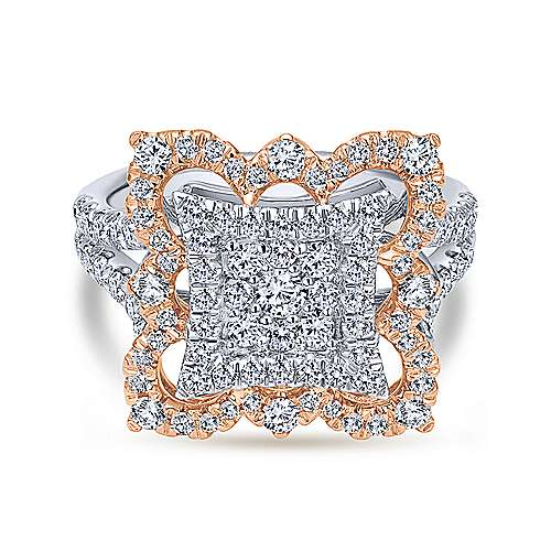 Gabriel - 18k White/rose Gold Mediterranean Fashion Ladies' Ring