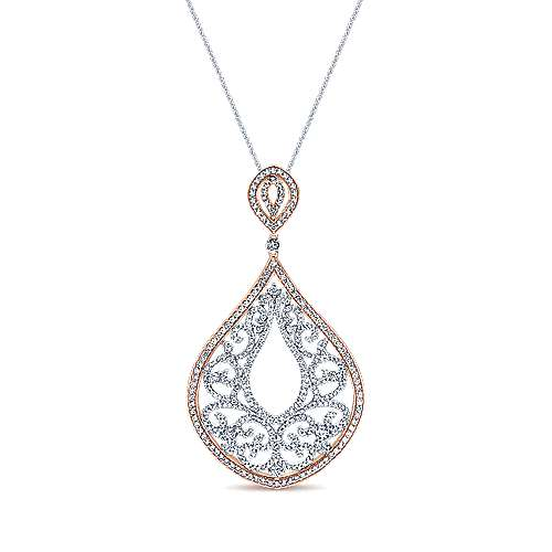 Gabriel - 18k White/rose Gold Mediterranean Fashion Necklace