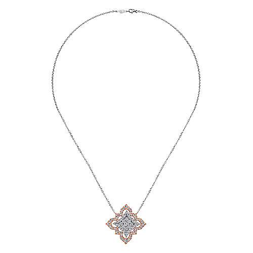 18k White/rose Gold Mediterranean Fashion Necklace angle 2