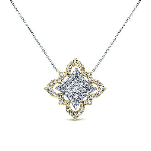 18k Yellow And White Gold Victorian Fashion Necklace angle 1