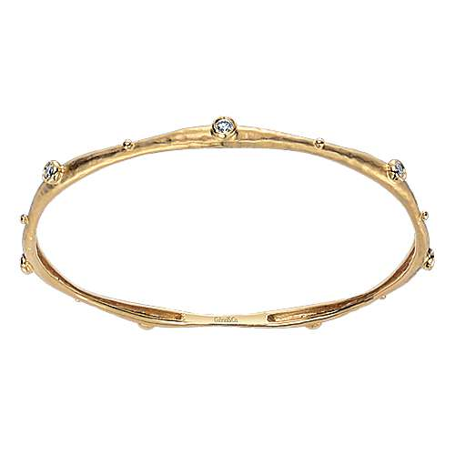 Gabriel - 18k Yellow Gold Stackable Bangle