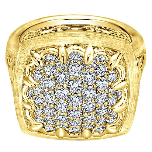 18k Yellow Gold Diamond Fashion