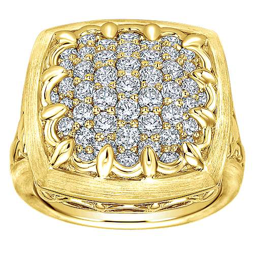 18k Yellow Gold Diamond Fashion Ladies