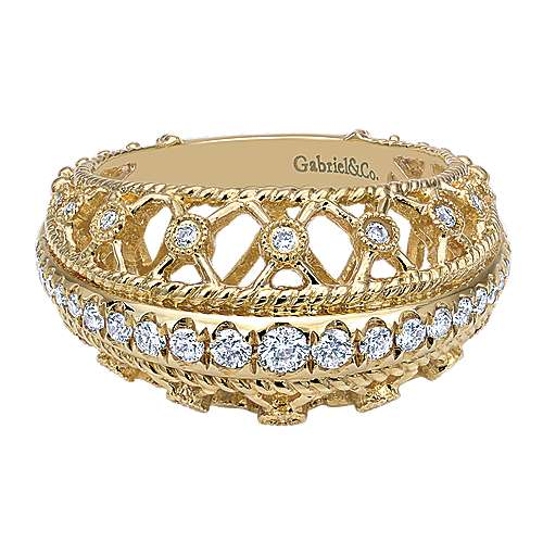Gabriel - 18k Yellow Gold Mediterranean Fashion Ladies' Ring