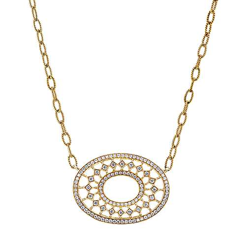 Gabriel - 18k Yellow Gold Mediterranean Fashion Necklace
