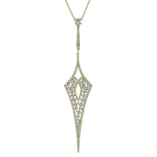 Gabriel - 18k Yellow Gold Kaslique Fashion Necklace